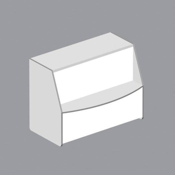 3.4. Прилавок глух.(пластик) A-8